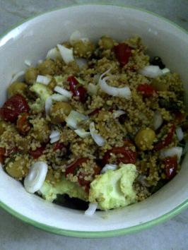 Couscous with Avocado & Chickpea
